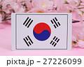 国旗 春 桜 27226099