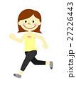 走る女性 27226443