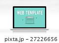 パソコン デザイン 柄のイラスト 27226656