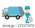 ゴミ収集車と作業員 27227970