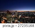 東京西新宿ビル街の夜景、遠望富士 27235168