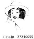 戴帽子的女子 時尚插畫 27240055