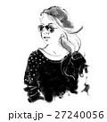 戴墨鏡的女子 時尚插畫 27240056