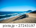 砂丘と日本海の荒波 27243197