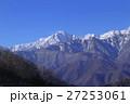 北アルプス 雪山 積雪の写真 27253061