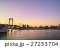 レインボーブリッジ 吊り橋 夕景の写真 27253704