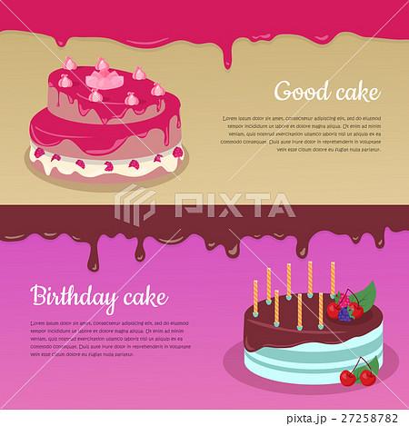 Birthday Cake with Raspberry and Candlesticks Set 27258782
