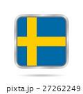 スウェーデン 旗 フラッグのイラスト 27262249