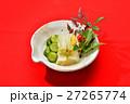 お正月風盛り付けの「お漬け物(白菜、キュウリ)」。 27265774