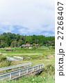 橋の有る農村風景  27268407