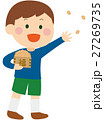豆まきをする男の子のイラスト 節分の日 27269735