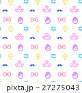 8bitなゆめかわいいドット絵シームレスパターン 白背景・ベクター  27275043