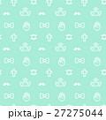 8bitなゆめかわいいドット絵シームレスパターン ミントグリーン・ベクター  27275044