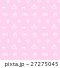 8bitなゆめかわいいドット絵シームレスパターン ピンク・ベクター  27275045