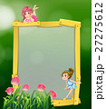 Frame design with two fairies 27275612
