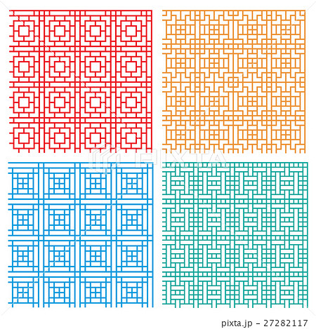 Seamless geometric line pattern in Asian styleのイラスト素材 [27282117] - PIXTA