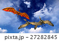 Flying pterodactyl against the beautiful 27282845