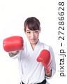 ボクシングをする女子 27286628