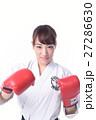 ボクシングをする女子 27286630