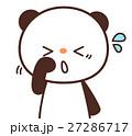 パンダ キャラクター 花粉症のイラスト 27286717