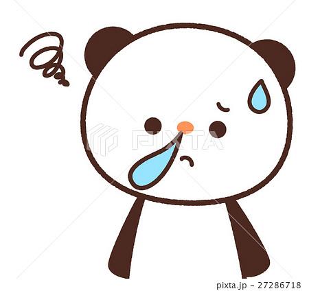 かわいいパンダのキャラクター 鼻水が出るイメージ 背景透過・白背景・ベクター 花粉症 27286718