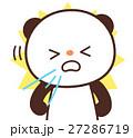 パンダ キャラクター 花粉症のイラスト 27286719