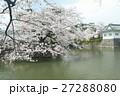 お堀とソメイヨシノ 27288080