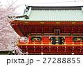 神田明神 随神門 桜の写真 27288855