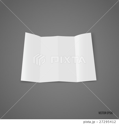 four fold white template paper vector illustrationのイラスト素材