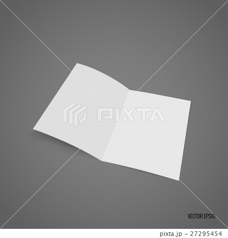 bifold white template paper vector illustrationのイラスト素材