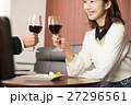 女性 乾杯 ワインの写真 27296561