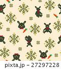 ノルディック柄 ウサギ パターンのイラスト 27297228