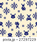ノルディック柄 ウサギ パターンのイラスト 27297229