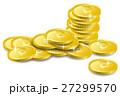 乱雑に置かれたコインのイメージイラスト 27299570