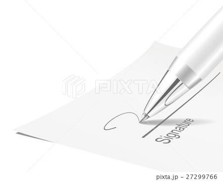 Pen and signature 27299766