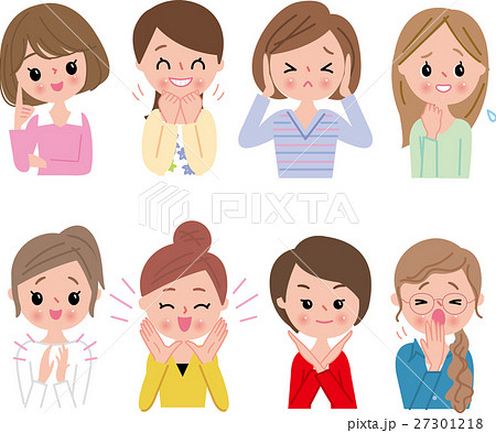 女性 OL 笑顔 表情&仕草セット 27301218