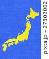 青海波 和柄 日本地図のイラスト 27302062