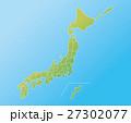日本地図 都道府県 日本のイラスト 27302077