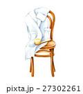 ウッドチェア バスローブ 色鉛筆画のイラスト 27302261