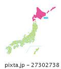 北海道 都道府県 地図のイラスト 27302738