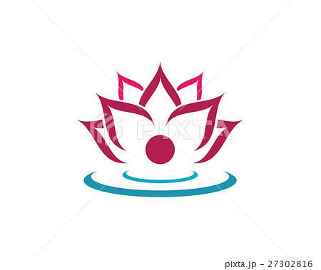 beauty lotus logo templateのイラスト素材 27302816 pixta