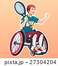 テニス 身体障害者 若いのイラスト 27304204