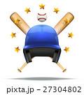 ベクトル ベースボール 白球のイラスト 27304802