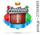 Premium symbol of American Football label 27304805