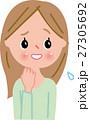 表情 女性 人物のイラスト 27305692