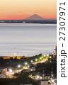 飯岡灯台夕景11 と富士山 27307971