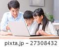 パソコン ダイニングキッチン 家族の写真 27308432