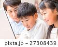 パソコン 子供 父親の写真 27308439