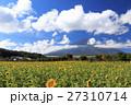 富士山 向日葵 夏の写真 27310714