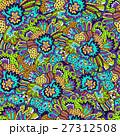 Vector flower pattern. Seamless botanic texture. 27312508